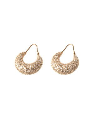 Diamond and rose gold puparium earrings