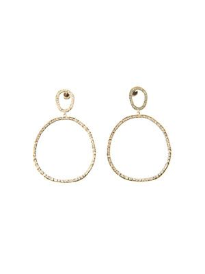 Diamond & yellow gold Again earrings