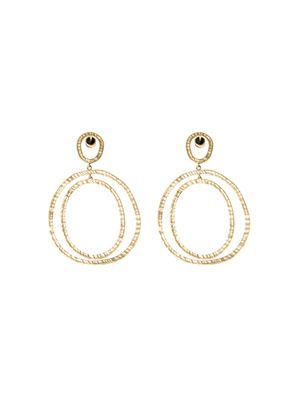 Yellow gold Again hoop earrings