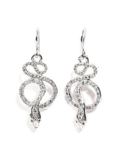 Ileana Makri Grey diamond and gold snake-tree earrings