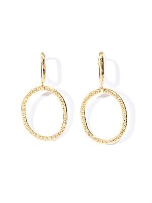 White diamond and yellow gold hoop earrings