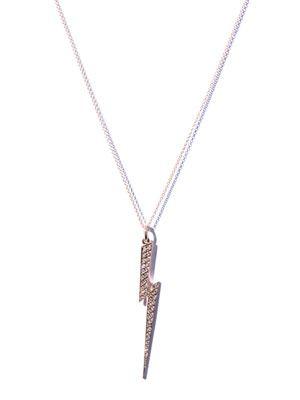 Diamond & gold Thunderbolt necklace