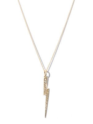 Diamond & gold Thunderbolt necklace