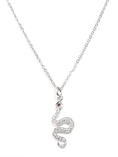 Ileana Makri White diamond & gold lsnake necklace