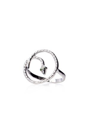 Diamond & white-gold Lucky Circle ring