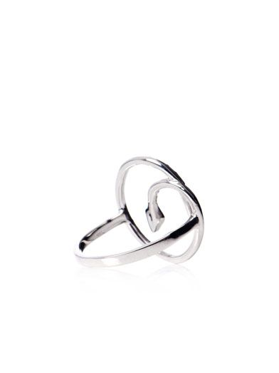 Ileana Makri Diamond & gold Lucky Circle ring