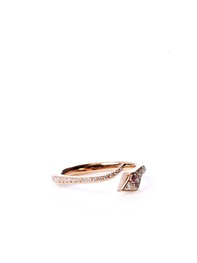 Ileana Makri Diamond, ruby & gold snake ring