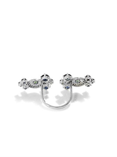 Ileana Makri Champagne diamond, tsavorite & white gold ring