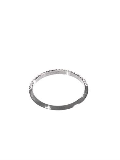 Ileana Makri Diamond & oxidised gold disc ring