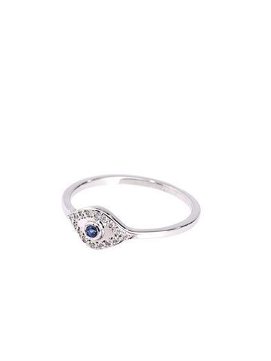 Ileana Makri Diamond, sapphire & gold wisdom-eye ring