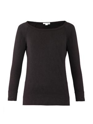 Raglan-sleeve cotton sweatshirt