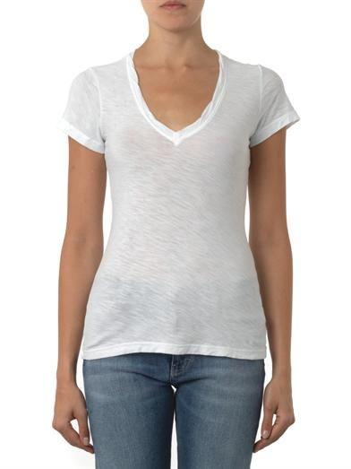 James Perse V-neck slub-cotton T-shirt