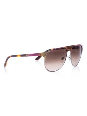 Straight-top aviator sunglasses