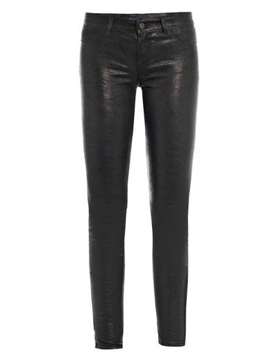 J Brand L8001 Leather super-skinny jeans
