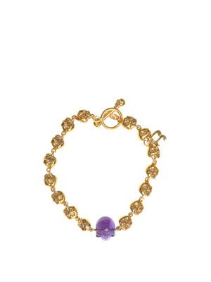 Amethyst and gold plated bracelet