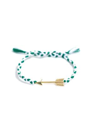 Gold-plated arrow plaited bracelet