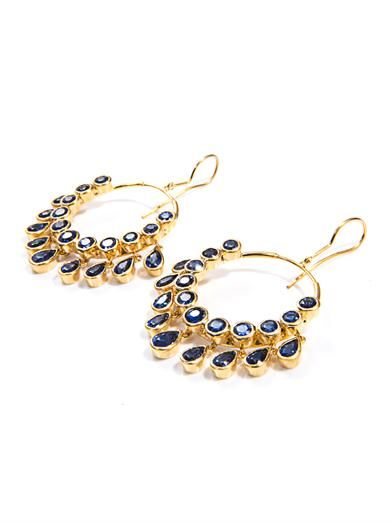 Jade Jagger Kyanite & gold-plated gypsy earrings