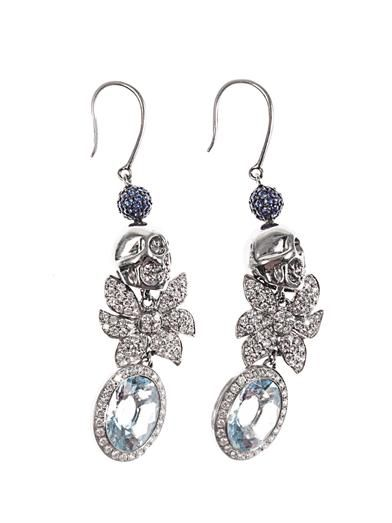 Jade Jagger Diamond, aquamarine & gold earrings