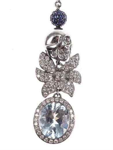 Jade Jagger Diamond, aquamarine & gold earrings