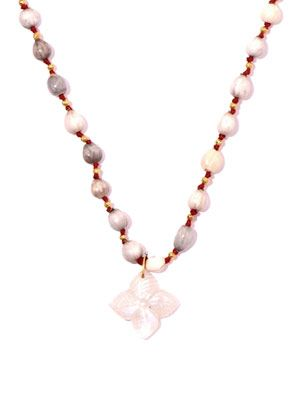 Vaijanti and moonstone necklace