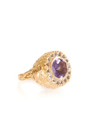 Amethyst & aquamarine ring