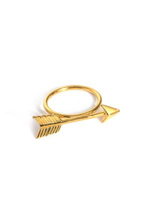 Gold-plated arrow ring