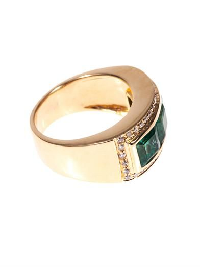 Jade Jagger Diamond, emerald & yellow-gold ring