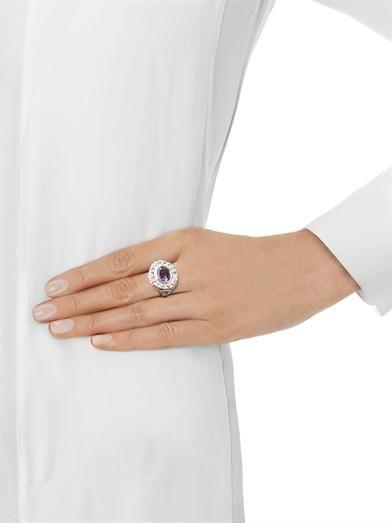 Jade Jagger Amethyst, aquamarine & gold-plated  ring