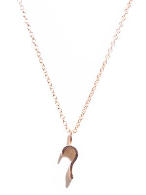 Rose gold '?' pendant necklace