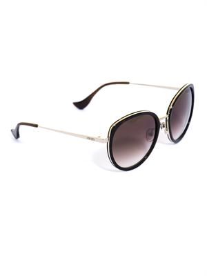 Rounded-frame sunglasses