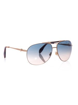 Matte gold aviator sunglasses