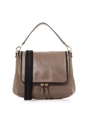 Maxi Zip leather satchel