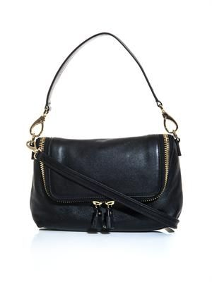 Maxi zip cross-body bag