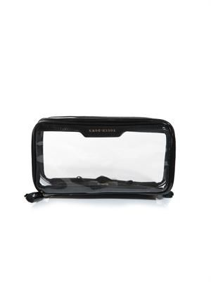 In-flight clear makeup bag