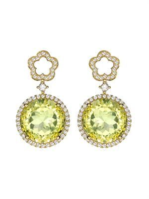 Diamond, lemon-quartz & gold Eden earrings