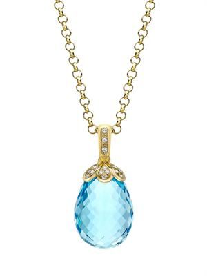 Diamond, topaz & yellow-gold necklace