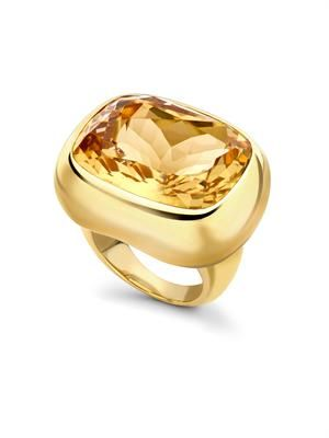 Citrine & yellow-gold ring