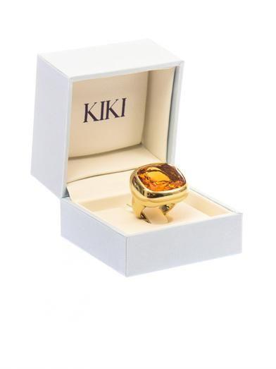 Kiki McDonough Citrine & yellow-gold ring