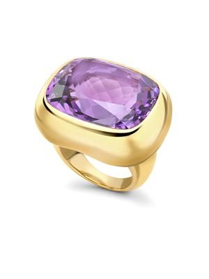 Amethyst & yellow-gold ring