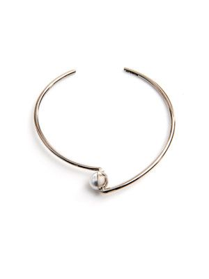 Pearl and white gold Arlequin bangle