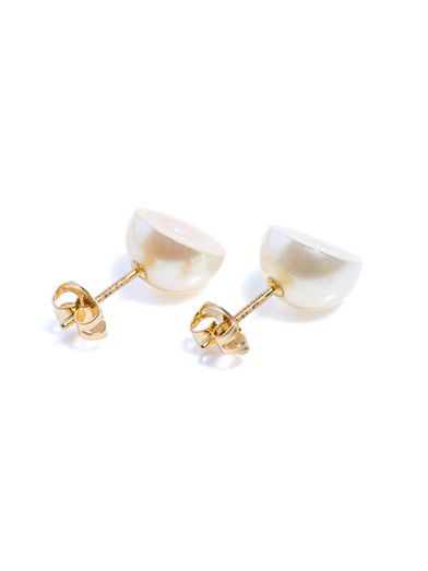 Melanie Georgacopoulos MG Tasaki white-pearl & yellow-gold earrings