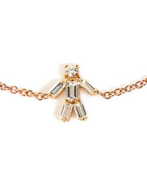 Diamond and rose gold boy bracelet