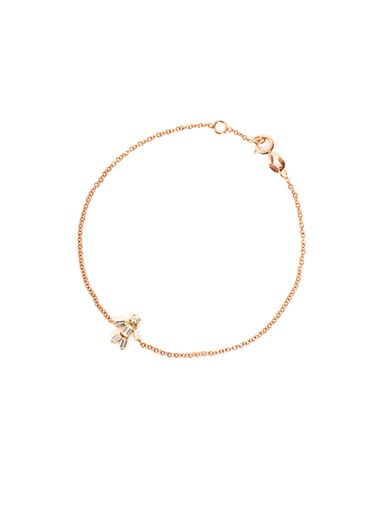 Matchstick Diamond and rose gold boy bracelet