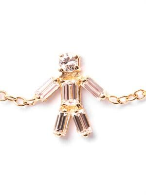 Diamond & yellow gold boy bracelet