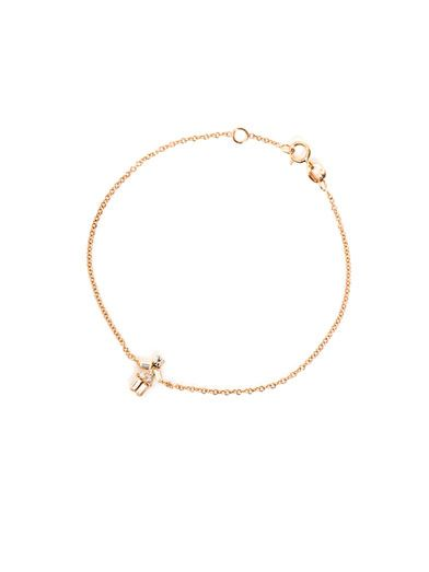 Matchstick Diamond and rose-gold girl bracelet