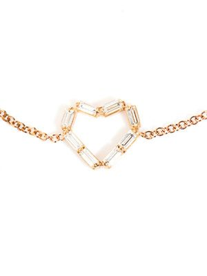 Diamond & rose-gold heart bracelet