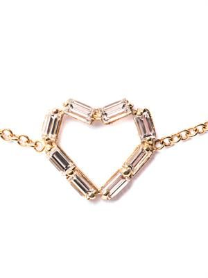 Diamond & yellow gold heart bracelet