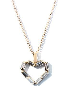 Diamond & rose gold heart necklace