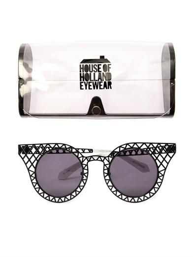 House Of Holland Cagefighter metal sunglasses