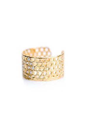 Bague VI diamond and gold-plated ring